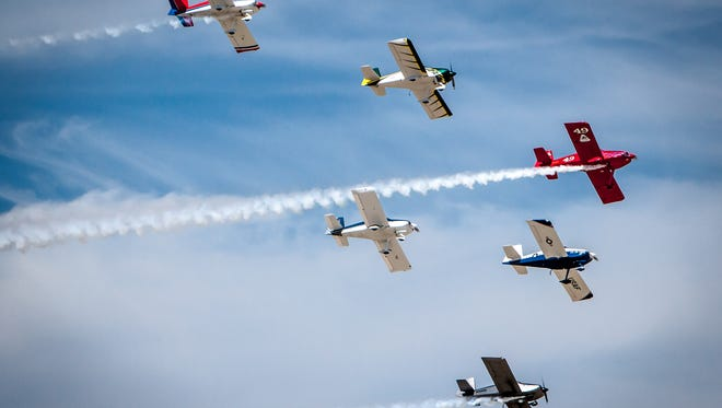 Van's RV airplanes like these, built from kits, will be on display at Thunder Over Flagstaff.
