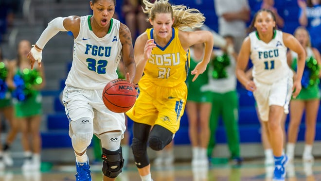 FGCU senior forward Rosemarie Julien and the Eagles had a huge home win against South Dakota State at home last Friday and are the new mid-major No. 1. But the real -- ASUN -- season tips this Saturday in Alico Arena against archrival Stetson.