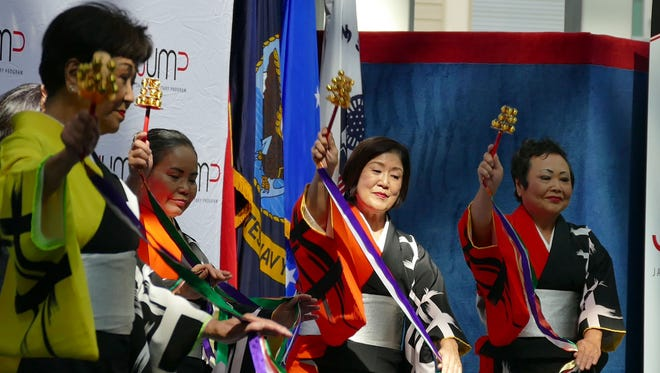 Members of the Japanese American Dance Group perform during a previous JUMP (Japan-U.S. Military Program) event.