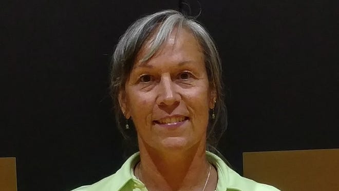 Diane Raabe was announced as Pendleton's new volleyball coach Wednesday evening at the school.
