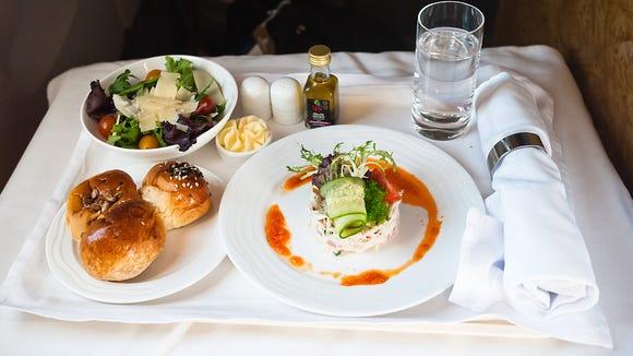 Emirates Business Class Dinner (Appetizer)