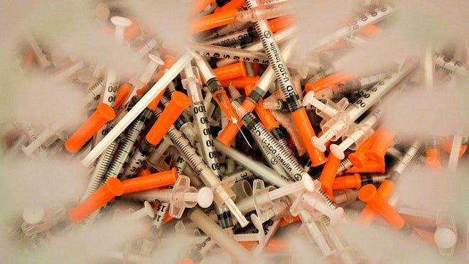 Used syringes.