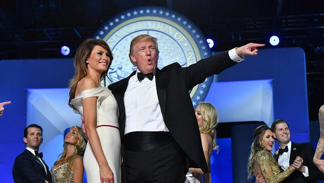 President Donald Trump and First Lady Melania Trump dance at the Freedom Ball on January 20, 2017 in Washington, D.C. Trump will attend a series of balls to cap his Inauguration day. Federal prosecutors in New York have issued a subpoena seeking documents from Donald Trump's inaugural committee.