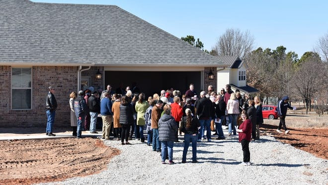 Tours were given Friday at the site of two new foster care homes constructed by state-wide foster care agency Oklahoma United Methodist Circle of Care, in a partnership with the Avedis Foundation. The homes are at 44883 Hardesty Road, immediately south of Rock Creek Baptist Church, in Shawnee.