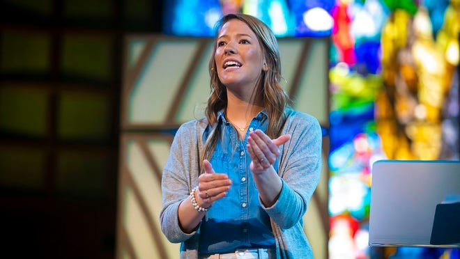 Amy Cordova, the missions and women's ministry partner for Oklahoma Baptists (formerly BGCO), spoke during OBU's Women's Missions and Ministry Chapel Wednesday, March 11.