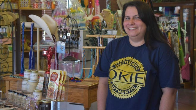 Okie Dokie Mercantile & Co. owner Christina Hernandez at her shop located at 1102 N Kickapoo Ave.