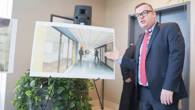 Montefiore St. Luke's Cornwall VP and Chief Operating Officer Daniel Maughan describes plans for 11 million dollars of improvements to the hospital at a press conference at in Cornwall, NY on January 27, 2020. ALLYSE PULLIAM/For the Times-Herald Record