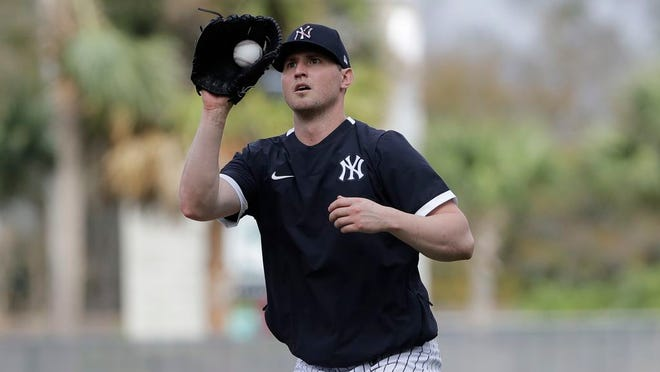 New York Yankees' Zack Britton during a spring training baseball workout Thursday, Feb. 13, 2020, in Tampa, Fla.
