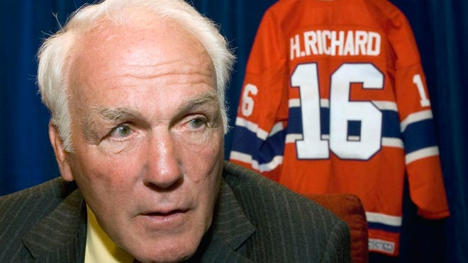 From June 1, 2007, former Montreal Canadiens' Henri Richard responds to questions in Ottawa, Ontario. Henri Richard, the speedy center who won a record 11 Stanley Cups with the Montreal Canadiens, died Friday, March 6, 2020. He was 84. His death was announced by the team. Richard had Alzheimer's disease.