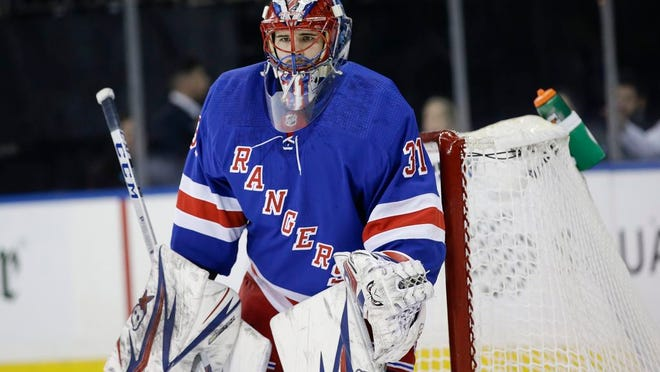 New York Rangers goaltender Igor Shesterkin (31) during the first period of an NHL hockey game against the Toronto Maple Leafs Wednesday, Feb. 5, 2020, in New York.