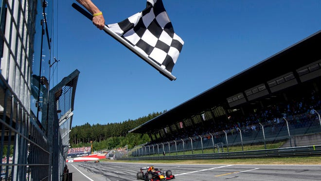 From June 30, 2019, a view of the Red Bull Ring racetrack in Spielberg, southern Austria.  Formula One hopes to finally start the season with a double-header in the naturally isolated environment around the venue for the Austrian Grand Prix. The first 10 F1 races have been canceled or postponed because of the coronavirus pandemic and the targeted start date is July 5 in Austria.