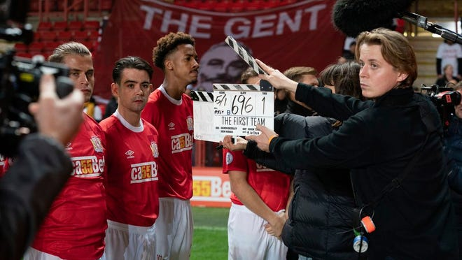 Filming in London of The First Team, a new BBC comedy drama series about a fictional soccer team. One of the executive producers is Tom Werner, the American chairman of Liverpool, who was a source of behind-the-scenes knowledge and footballing contacts.