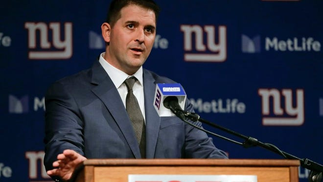 From Jan. 9, 2020, Joe Judge, the new coach of the New York Giants NFL football team, speaks during a news conference in East Rutherford, N.J. The 38-year-old rose to the top quickly by being prepared. It is how he is approaching this time of isolation caused by the coronavirus pandemic. It's something no other coach has gone through, so Judge does not see himself at a disadvantage in starting to  rebuild a team that has won 12 games in three seasons.