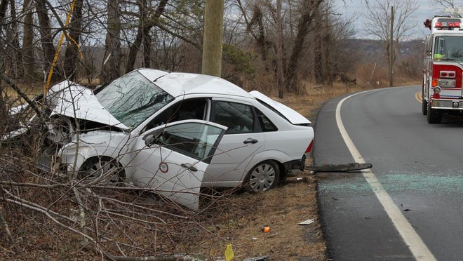 Scene of the fatal crash that killed Tom Walter.