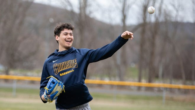 Justin Guiliano of Ellenville throws the ball during a recent workout.