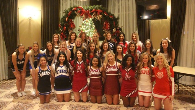 The 2019-2020 All-Ardmoreite cheer team consists of cheerleaders from across the area. The group photo was taken at the Artesian Hotel and Casino in Sulphur.