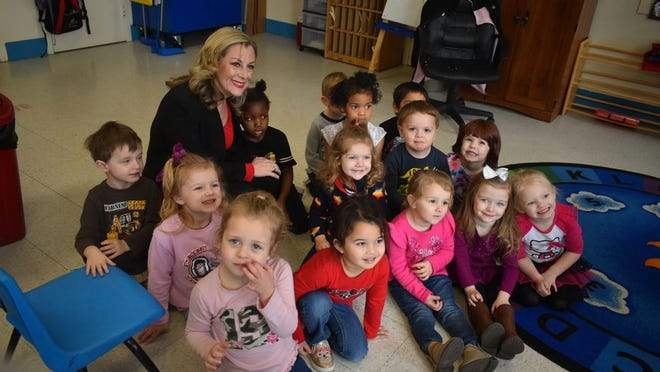 Oklahoma Congresswoman Kendra Horn visited with many of the children at Crossroads Head Start in Shawnee as she toured the facility.