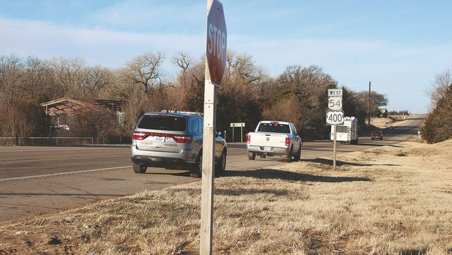 Pratt County Sheriff's deputies continue to stop traffic on U.S. Highway 54 west of Pratt on Monday morning due to a gas leak detected Sunday evening. Road barricades remain in place at 30th West and 54 as of 10:30 a.m.