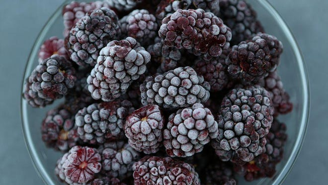 Marionberries are among the berries available to purchase frozen, year-round, at Johnson Farms.