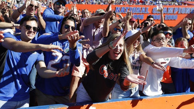 "The University of Florida will no longer use the ""Gator Bait"" cheer at sporting events, President Kent Fuchs announced Thursday, citing the"