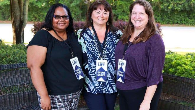 From left: Rosemary Tiller, production editor, Pam Sander, Gannett Southeast Regional Editor, and Port City Life editor Allison Ballard.