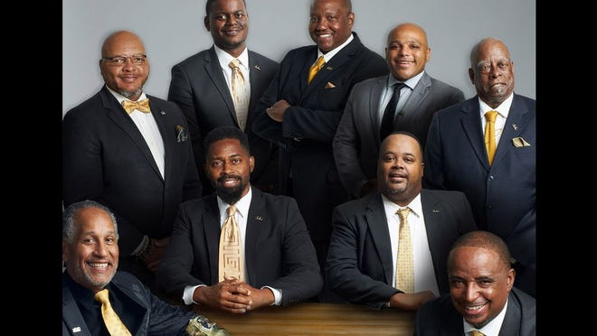 Back row (L-R): Bill Stubbelfield, Daylan Flowers, Calvin Davies, Gaston Rougeaux-Burns and Sam Thomas Front row (L-R): Leon Williams, Chris Wilson, Darrell Ellison and Reggie Dial