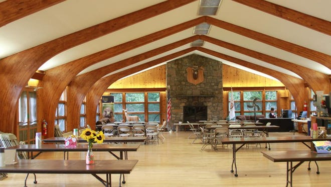The Environmental Education Center's Main Lodge at the W. Alton Jones campus in West Greenwich.