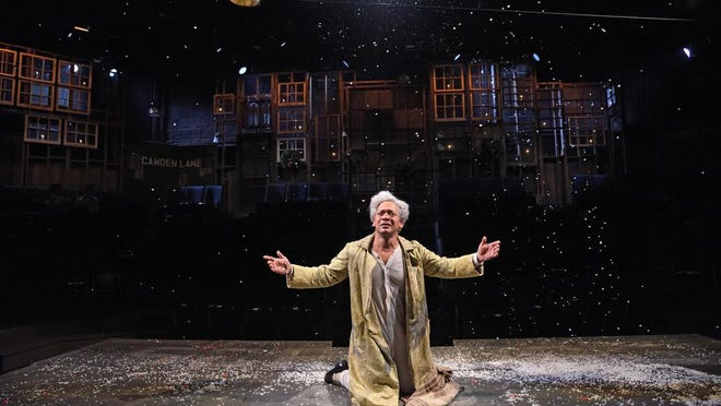 """Trinity Rep plans to resume productions in November with its 43rd production of """"A Christmas Carol."""" The theater presents a new take on the classic every year. This photo shows Joe Wilson Jr. as Ebenezer Scrooge in 2017. The 2020 presentation will be directed by Curt Columbus."""