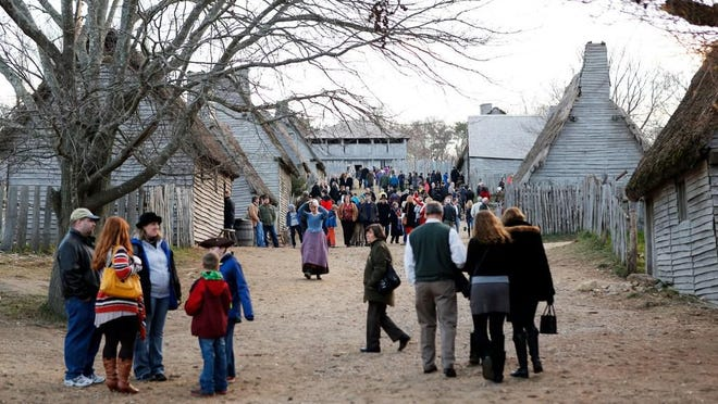 """Visitors last fall tour """"Plimoth Plantation,"""" which has announced it will change its name this year."""