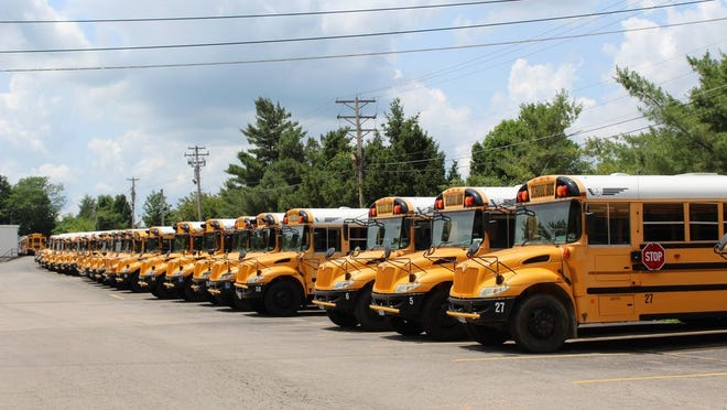 Buses in Rolla used for Rolla School District.