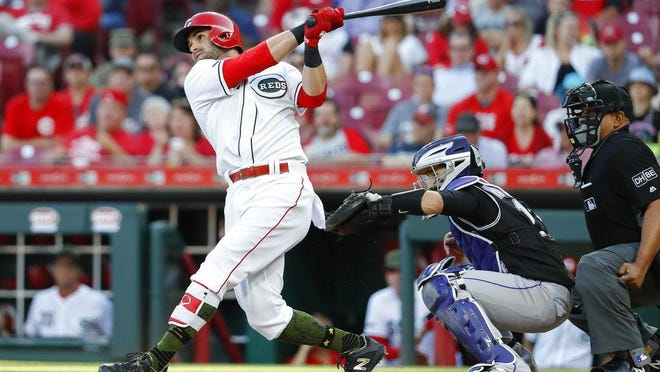 Jose Peraza appears to have changed his swing compared to his time with the Reds.