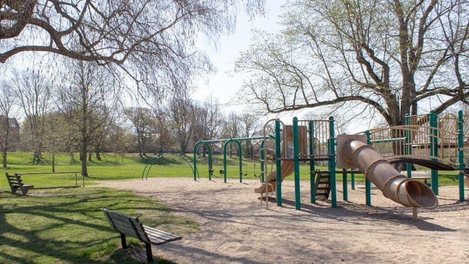 The playground at Morton Park.