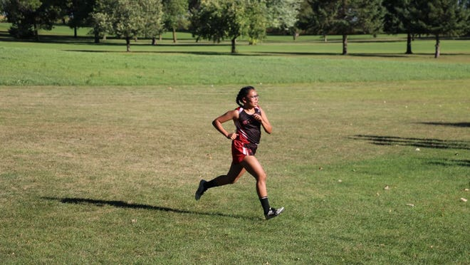 Diana Rodriguez was the top girls runner at the Buc Invite last Thursday, finishing with a time of 22:38 (photo courtesy of Kari Miest).