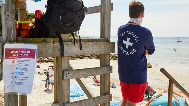 FALMOUTH -- 07/07/20 -- Lifeguard stand at Old Silver Beach. Caroline Brodt/Cape Cod Times file