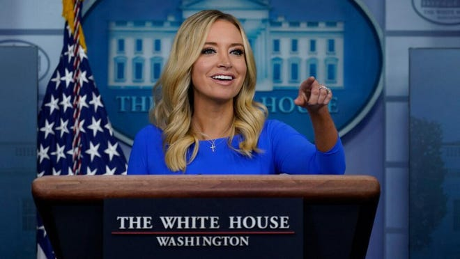 White House Press Secretary Kayleigh McEnany mistakenly called Supreme Court nominee Amy Coney Barrett a Rhodes Scholar, much to the delight of Twitter users and many Rhode Islanders.