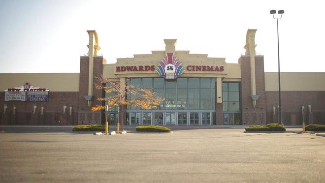 Regal Edwards Grand Teton theater is seen in Idaho Falls, Idaho on Monday. Cineworld, owner of Regal Theaters, has said they will be temporarily closing its 663 theaters in the United States and Britain. Regal has four theaters in Austin.