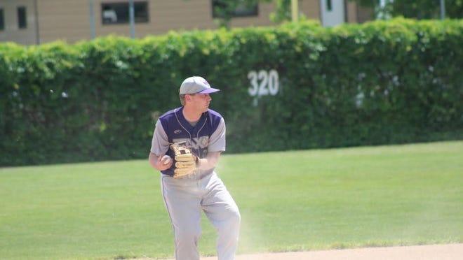 Kenric Baune fields a ball as part of a JAXX game.