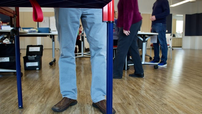 File Photo: With a week left before the election, nearly half of Needham voters have cast a ballot by mail or early and in-person. On Nov. 3, Five polling locations will be open in the town, including one at the Rosemary Recreation Complex (pictured).