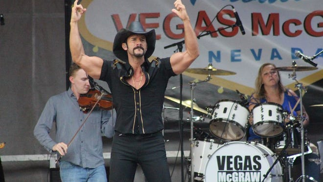Local artist Adam Tucker returns to the Ripley Fourth of July Celebration to perform his Tim McGraw Vegas Tribute.