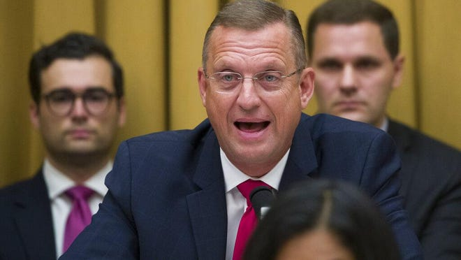 FILE - Rep. Doug Collins, R-Ga., the ranking member of the House Judiciary Committee, speaks as former special counsel Robert Mueller appears before the House Judiciary Committee hearing on his report on Russian election interference, on Capitol Hill, Wednesday, July 24, 2019 in Washington.