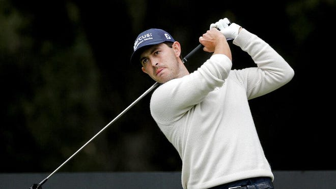 Patrick Cantlay hits from the second tee during the final round of the Zozo Championship golf tournament Sunday, Oct. 25, 2020, in Thousand Oaks, Calif.