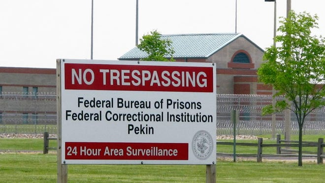 This photo taken Wednesday, May 5, 2010, shows the Federal Correctional Institution in Pekin.