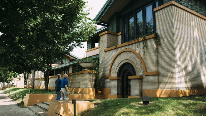 The Dana-Thomas House was designed by famed architect Frank Lloyd Wright between 1902 and 1904 for Springfield socialite Susan Lawrence Dana.