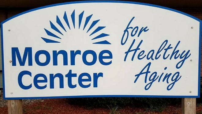 Monroe Center for Healthy Aging sign.