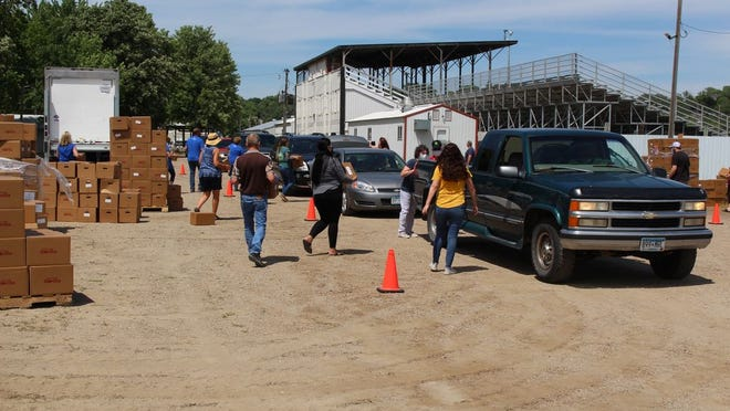 The Prairie Five food distribution event on June 26 was a huge success with an estimated 800 people served. Another food distribution event will be held next Wedenesday, August 19, from 2 p.m. to 4 pm. at the Fairgrounds in Montevideo.