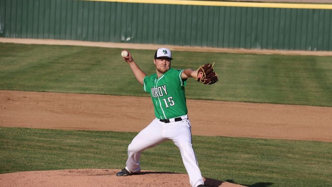 Beau Priegnitz got the start on the hill for the Irish and went the first five innings.