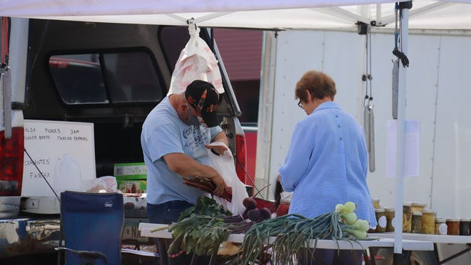 A variety of vendors are offering everything from locally grown vegetables to baked goods at the farmers market.