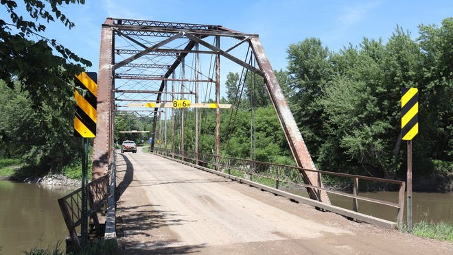 The Gold Mine Bridge is posted with a height and weight limit to ensure safety of the public and integrity of the structure.