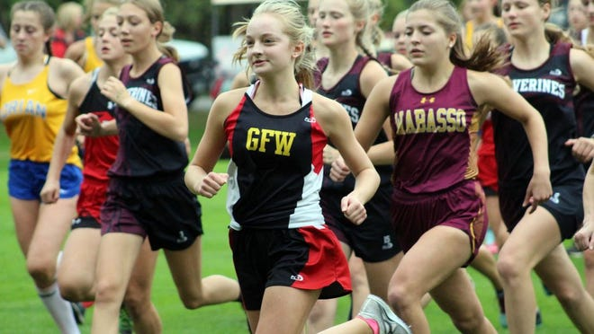 The Rabbit varsity girls placed second among the three team entries scoring 49 team points.