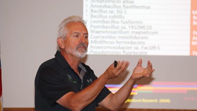 Ray Archuleta, a certified professional soil scientist, was one of the presenters at the academy.